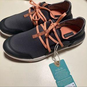 Olukai Miki Li Sneakers Shoes 7.5 Orange NEW